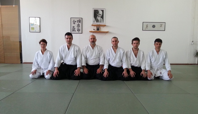Ivan Zafranović Sensei i članovi Aikido kluba Takemusu Giri - Rijeka